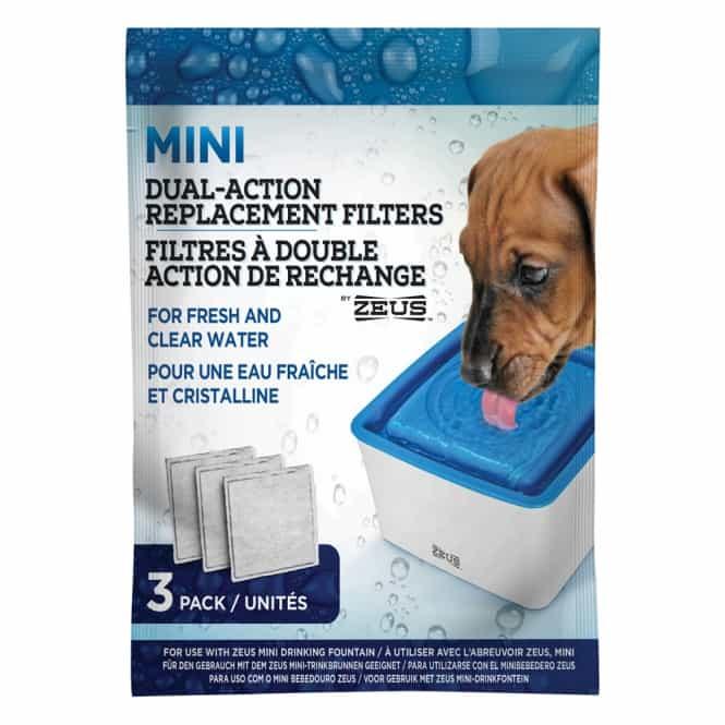 3er-Filterpack für Zeus Mini-Trinkbrunnen