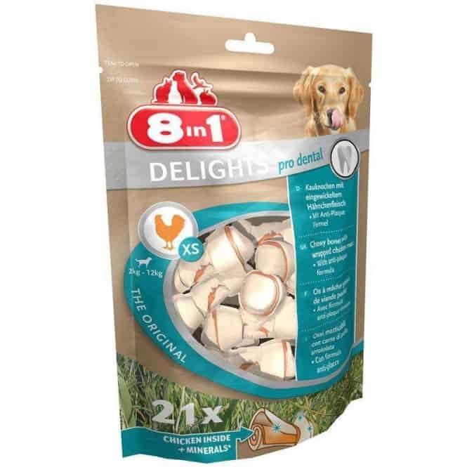 8in1 Dental Delights XS - Beutel, 21er