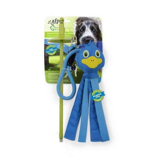 All for Paws Tugger - Ground Stick mit Blue Mallard, Bodenanker mit Spielzeug