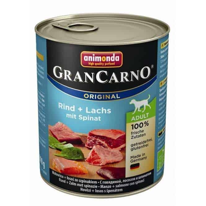 Animonda GranCarno Adult Rind & Lachs mit Spinat 800g