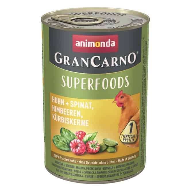 Animonda GranCarno Adult Superfood Huhn & Spinat 400 g