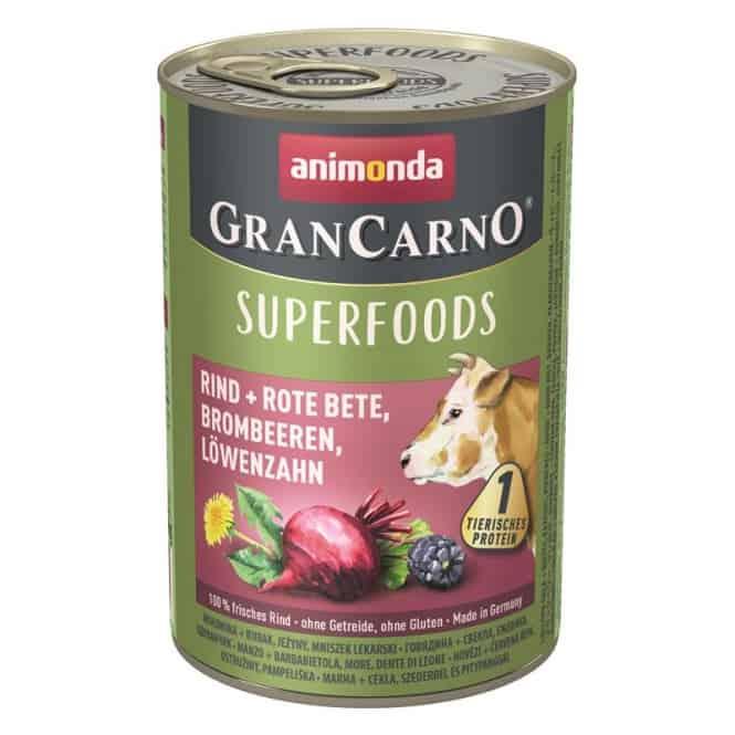 Animonda GranCarno Adult Superfood Rind & Rote Beete 400 g
