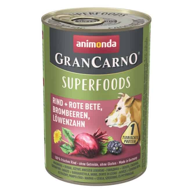 Animonda GranCarno Adult Superfood Rind & Rote Beete 800 g