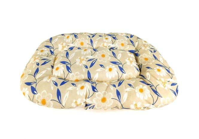 CARBONE Hundekissen Floconne, 75 x 50 cm Blumen-blau