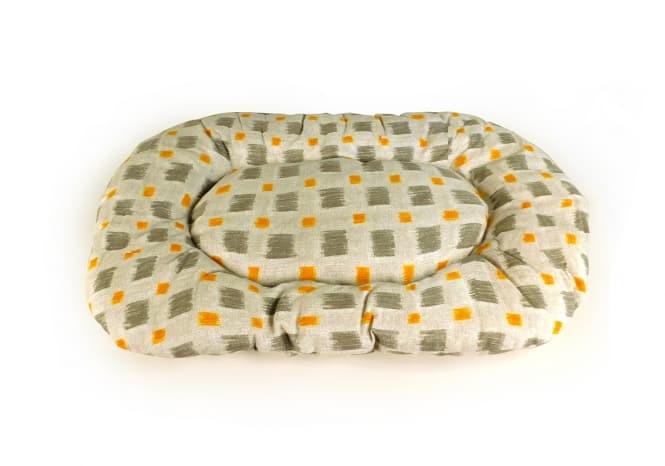 CARBONE Hundekissen Floconne, 75 x 50 cm Quadrate-grau