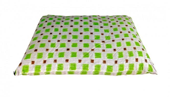 CARBONE Hundekissen Sacco, 70 x 100 cm Quadrate-grün