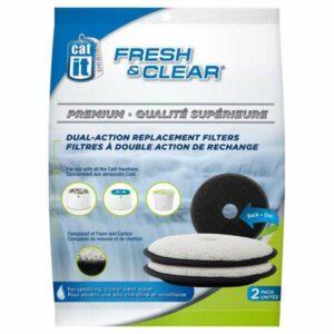 CATIT Premium-Ersatzfilter für Fresh&Clear Trinkbrunnen, 2er Set