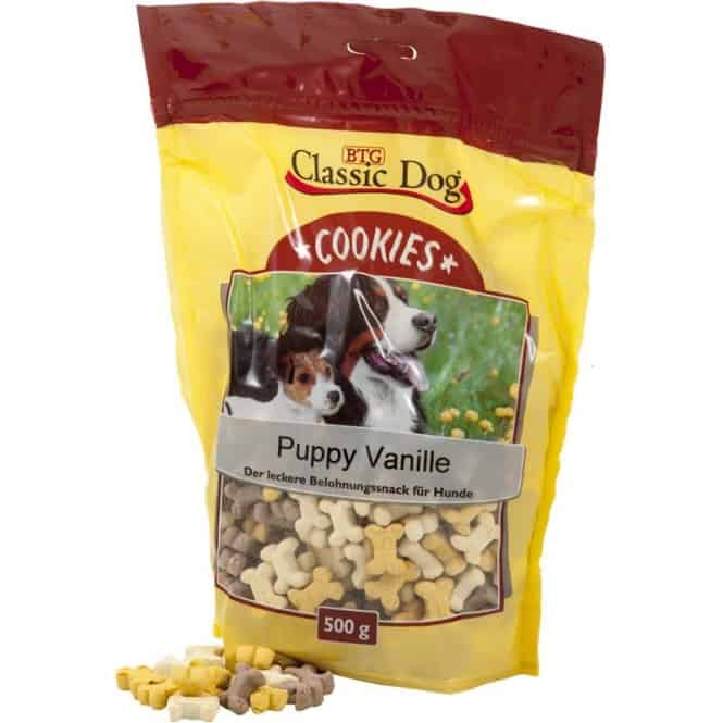 Classic Dog Snack Cookies Puppy Vanille 500g