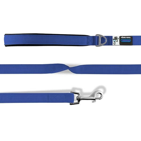 Curli Basic Leine Nylon - Blau 140cm/2,0cm