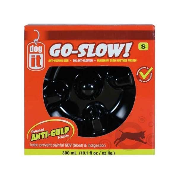 DOGIT Go-Slow Anti-Schling-Napf Schwarz 1200 ml