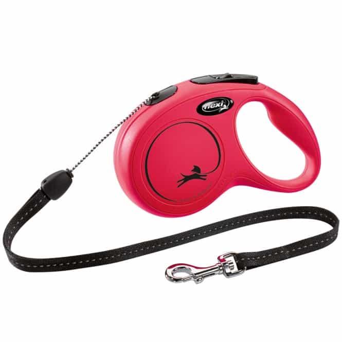 FLEXI Rollleine New CLASSIC Seil - 8m, bis 12kg Rot
