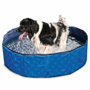 Karlie Flamingo DOGGY POOL Swimmingpool für Hunde - Blau gemustert 80 cm