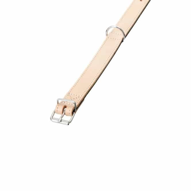 Karlie RONDO Halsband genäht - Natur/Schwarz 24 mm, 42 cm