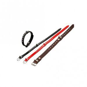 Karlie RONDO Halsband genietet - Schwarz 24cm / 10mm