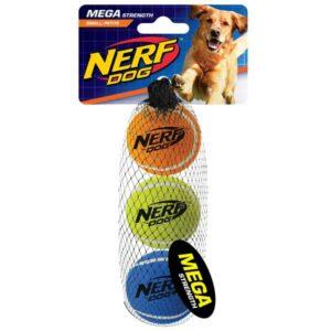 NERF DOG Tennis Balls megastark 5,1 cm / 3 Stück