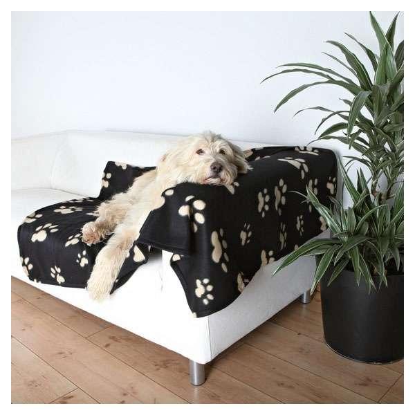 Trixie Fleecedecke Barney - 150 x 100cm, schwarz-beige