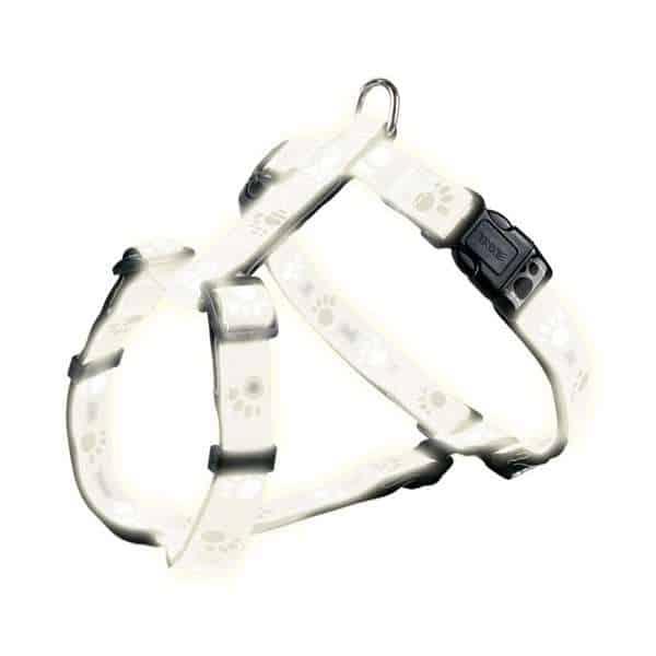 Trixie Geschirr Silver Reflect - Pfotenmotiv 30-40cm / 15mm