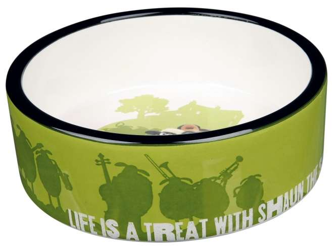 Trixie Keramiknapf Shaun das Schaf - 0,8l Grün