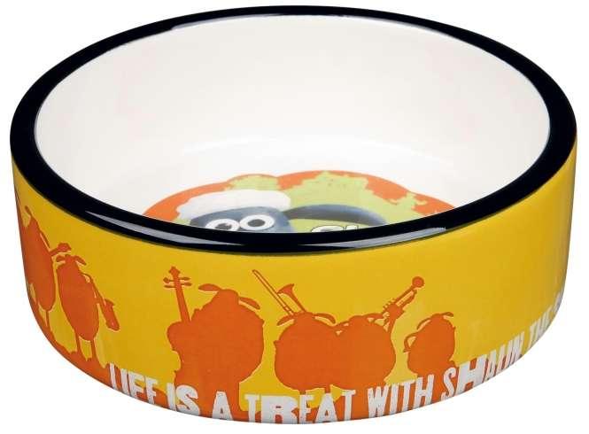Trixie Keramiknapf Shaun das Schaf - 0,8l Orange