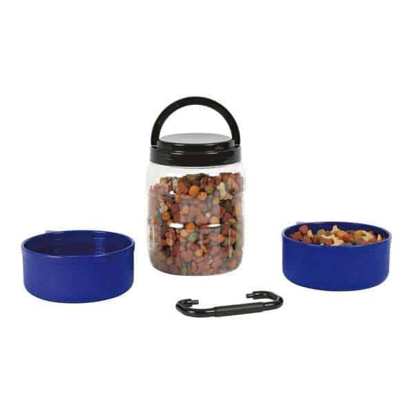 Trixie Reise-Set aus 2 Näpfen und Futterbehälter
